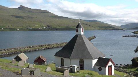 Typical village on the Faroe Islands.