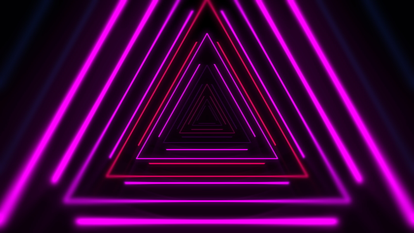 Motion colorful neon triangles, abstract background. Elegant and luxury dynamic club style template   Shutterstock HD Video #1035804617