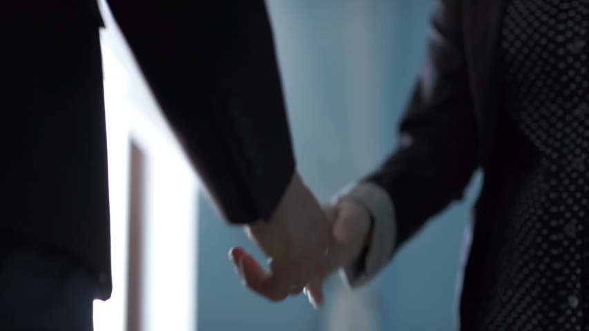 Business handshake. Business handshake and business people concept   Shutterstock HD Video #1035851297