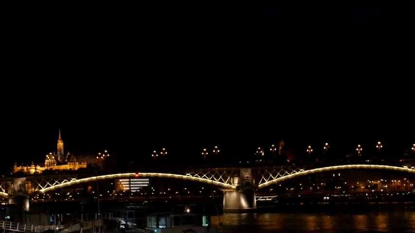 Budapest bridge, Budapest night, Night view of Buda part of Budapest | Shutterstock HD Video #1035910217