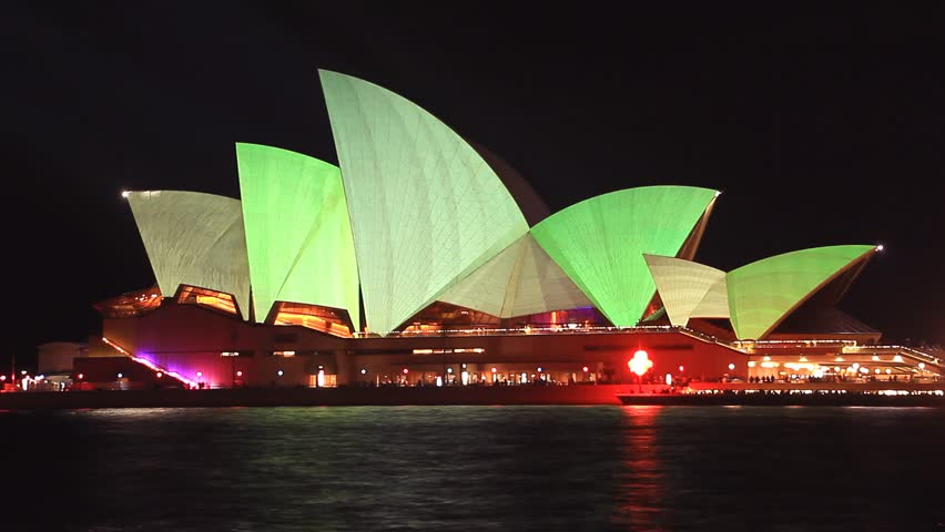 SYDNEY, AUSTRALIA   MAY 20: Opera House Sydney Harbour Australia   Vivid  Light Festival