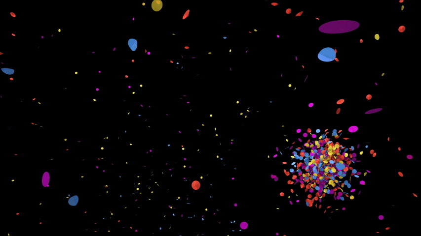Colorful confetti explodes on a green chroma key and black Backgrounds.  | Shutterstock HD Video #1036330937