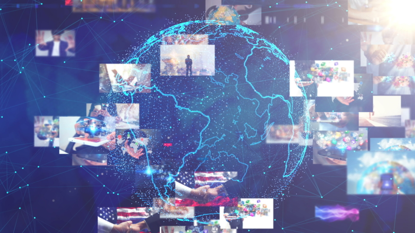 Global business network concept. business connecting | Shutterstock HD Video #1036394927