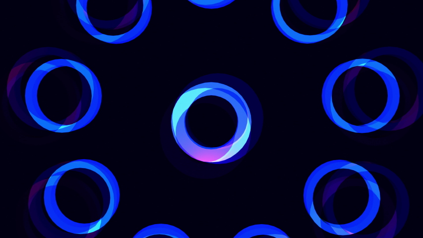 Glowing blue flowery circle burst motion graphics background 4K seamless loop. Best for animation advertisements or projection mapping. Trendy colors makes for hip stylish fashion music videos.   | Shutterstock HD Video #1036624607