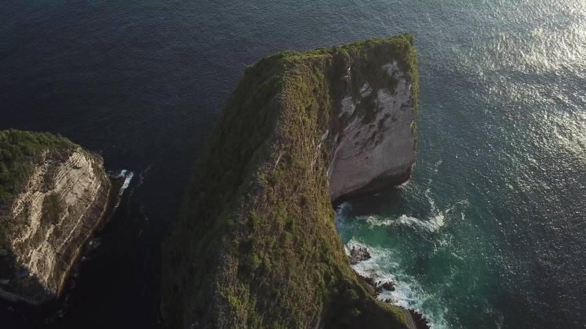 Beautiful Cliffs and White Sandy Beach from Above [Drone Footage] | Shutterstock HD Video #1036644917