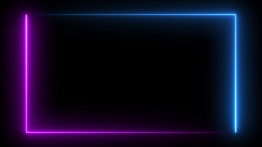 Abstract seamless background blue purple spectrum looped animation. Rectangular fluorescent ultraviolet light glowing neon line web neon box pattern desigh elemets LED screens projection technology