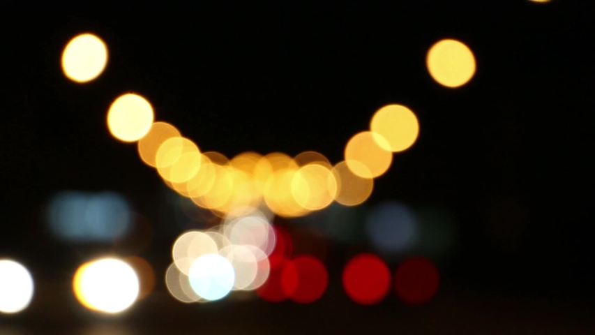 Blurred car lights at the crossroads of the big night city   Shutterstock HD Video #1036901207