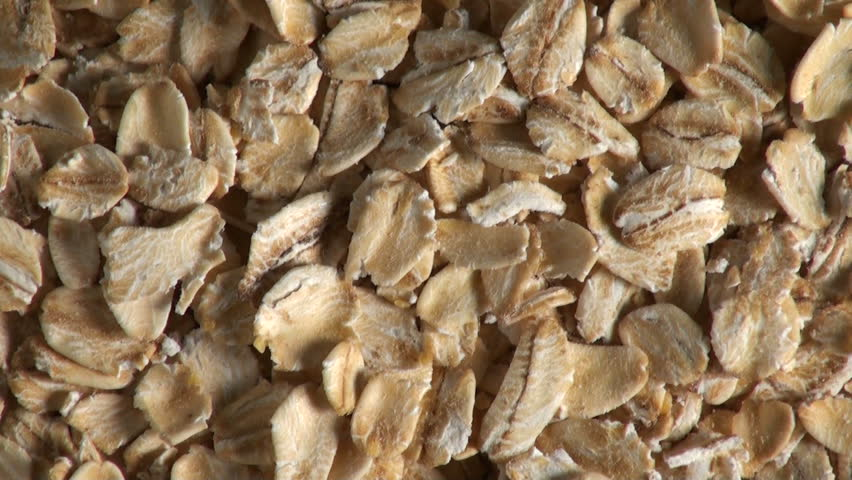 Zoom out of rolled oats