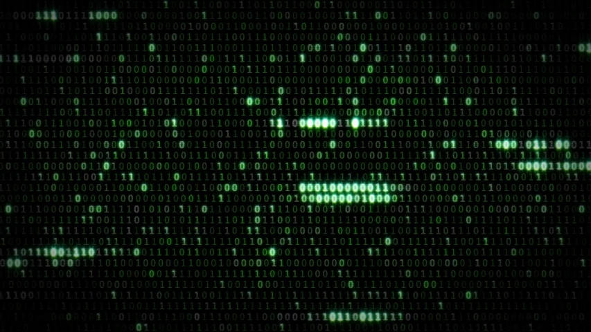 Binary animation in black and green color | Shutterstock HD Video #1037289527