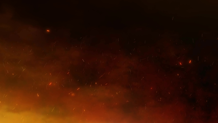 Fire sparks with smoke animation copy space background.  | Shutterstock HD Video #1037329037