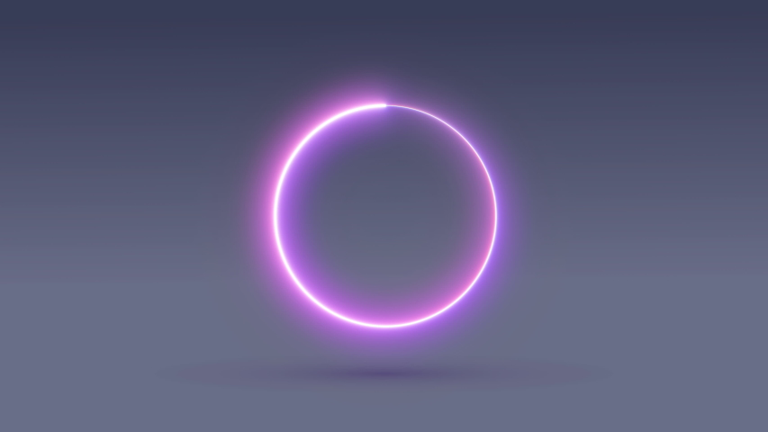 Interface, boot menu, progress. The round frame glows. Rotation of the figure. Shadow. 4k | Shutterstock HD Video #1037399837
