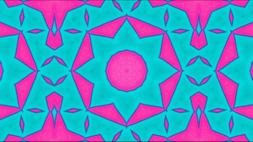 Multicolored kaleidoscope sequence patterns ; Hypnotic kaleidoscope stage visual loop for concert, night club, music video, events, show, exhibition, LED screens and projection mapping | Shutterstock HD Video #1037503757