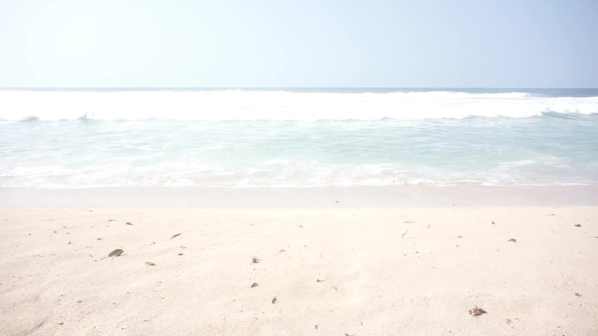 Beautiful Wave in Indonesian Beach with White Sands  | Shutterstock HD Video #1037510297