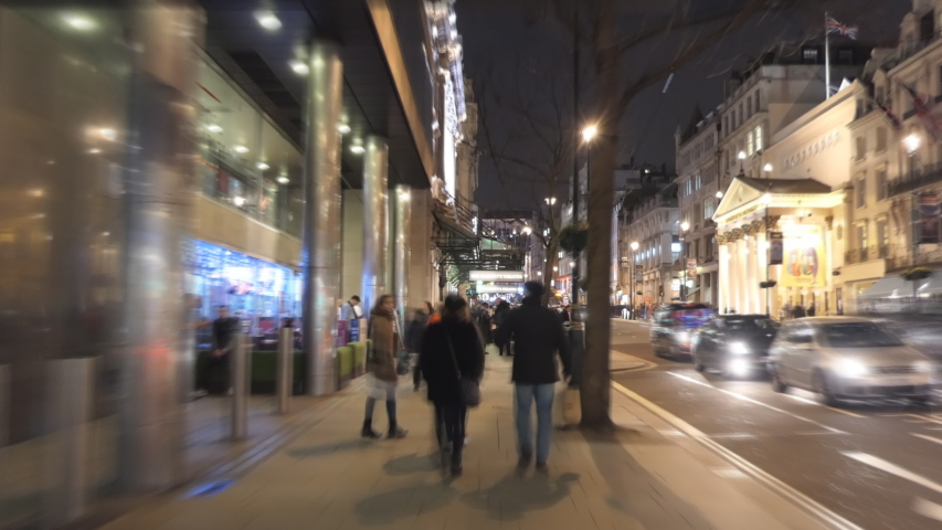 Time lapse. A stroll around central London at night.   | Shutterstock HD Video #1037654087