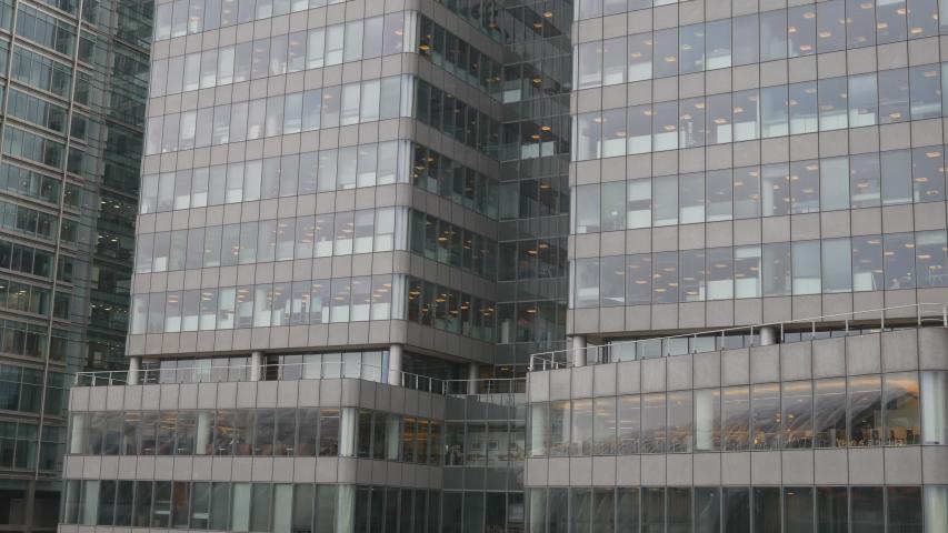 Windows of a glass high raise building. #1038262277
