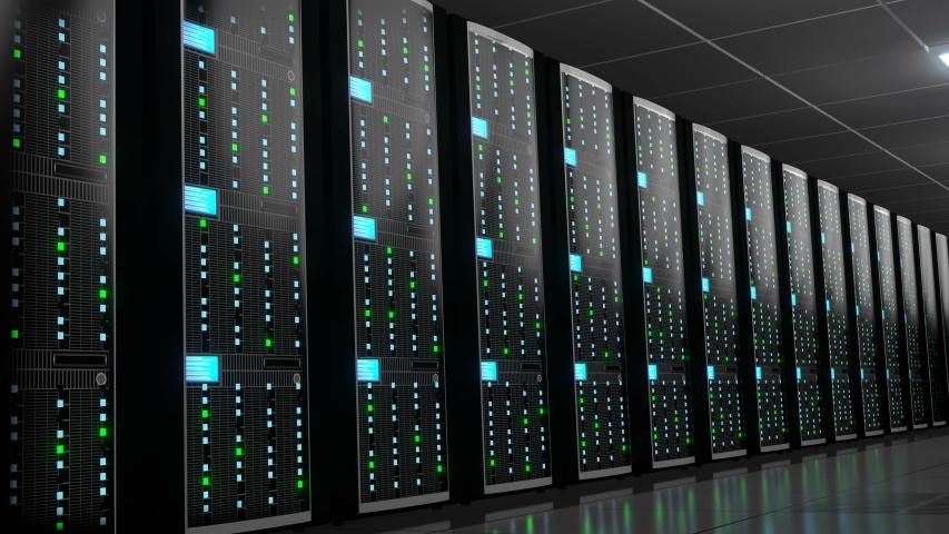3D animation/ 3D rendering - 4K server room - data center - storage/ hosting concept | Shutterstock HD Video #1038624137