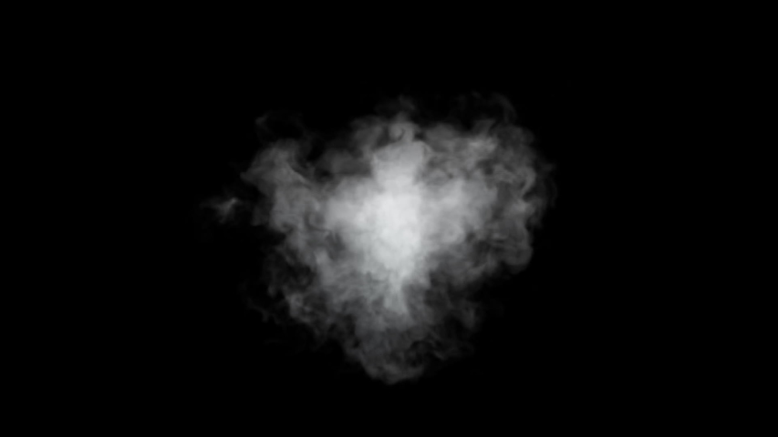 Seamless animation of a cluster of white smoke or steam on black isolated background. Fantasy Magic Smoke Effect. | Shutterstock HD Video #1038726257