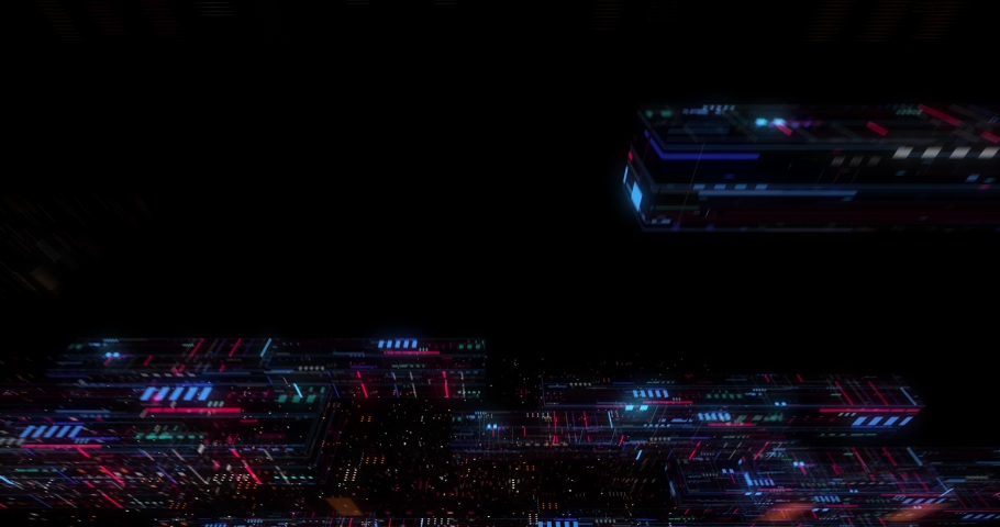 Seamless fly through of abstract circuitry with digital grid background, Data deep learning computer machine. AI artificial intelligence and ML machine learning concept. loop, 3D render | Shutterstock HD Video #1039053167