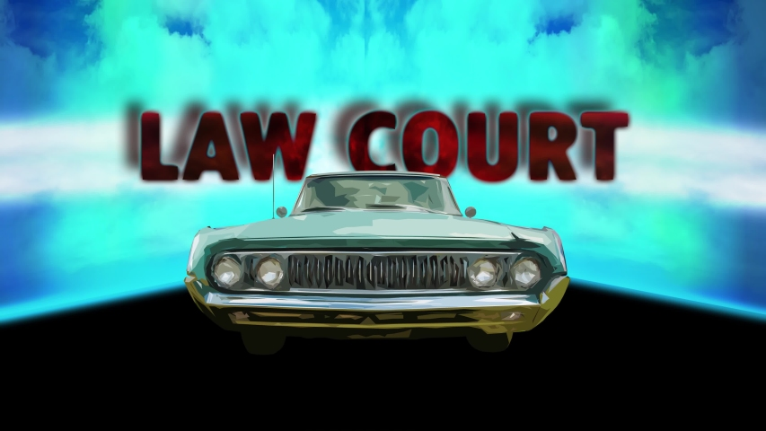 Street Sign the Direction Way to Law Court | Shutterstock HD Video #1039108457