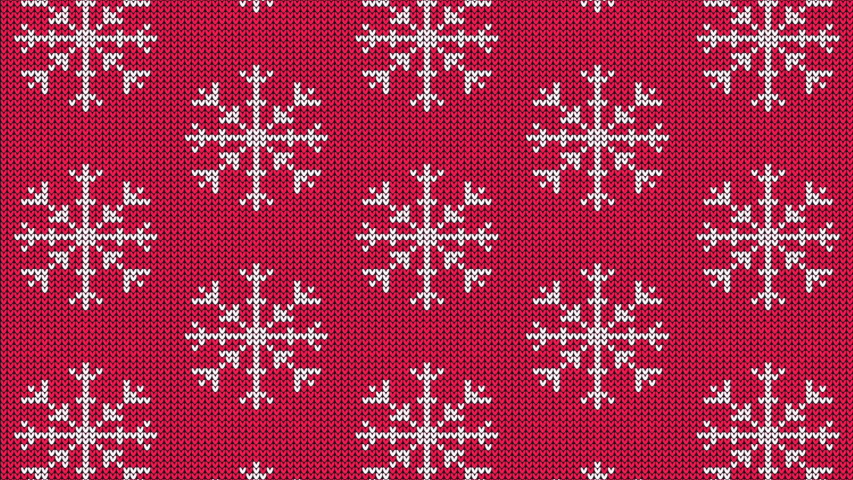 Knitted snowflake pattern for scandinavian sweater. Xmas snowfall wool knitted background. Looped animation. | Shutterstock HD Video #1039232327