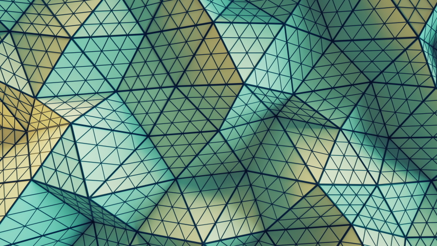 Polygonal geometric surface. Computer generated seamless loop abstract motion background. 3D render animation 4k UHD (3840x2160) | Shutterstock HD Video #1039418267