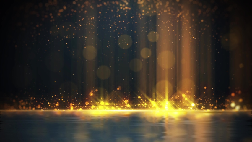 4K fire golden glitter fall  opener background | Shutterstock HD Video #1039967387