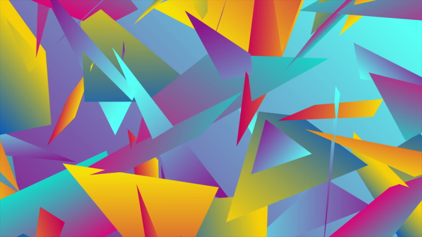Colorful abstract low poly splinters tech motion design seamless looping video animation ultra hd | Shutterstock HD Video #1040416307