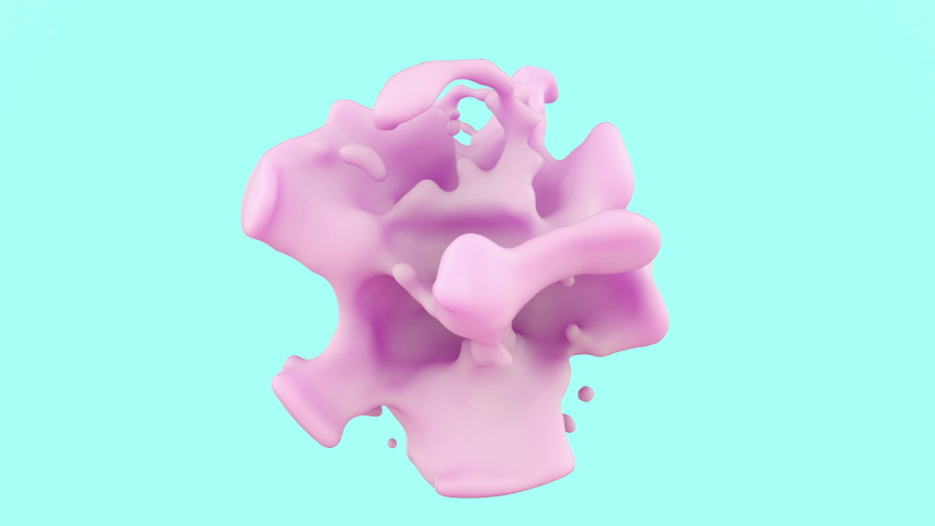 3d animation of weightless liquid or structural cream. Perfect futuristic trendy fashion glamour footage for advertising cosmetic products or technology devices.  | Shutterstock HD Video #1040739047
