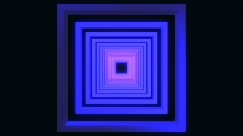 Neon abstract square tunnel. background | Shutterstock HD Video #1040970857