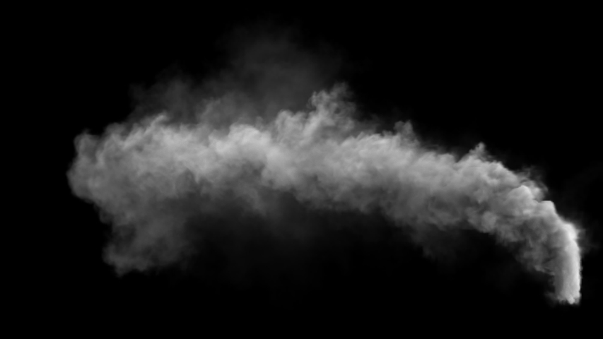 White smoke pollution isolated on black background. a little noise on smoke because it's smoke. Alpha channel included in the end of the clip. | Shutterstock HD Video #1040994377
