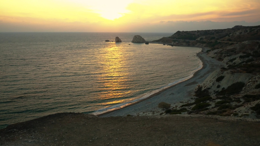 Sunset with sea view on Cyprus | Shutterstock HD Video #1041163027