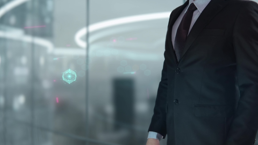 Businessman with Lean hologram concept   Shutterstock HD Video #1041459277