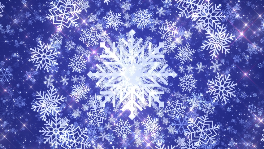 4k Seamless Snowflakes Blue Background VJ Loop | Shutterstock HD Video #1041513667