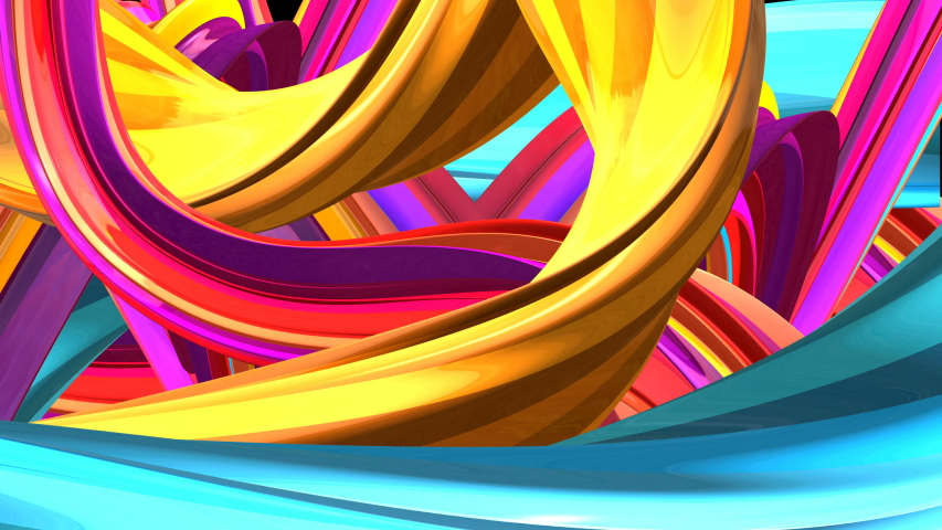 Abstract background luxury curve, elegant wallpaper design, 3D object with dynamic waves | Shutterstock HD Video #1042170667