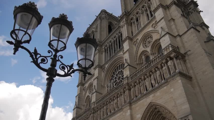 May 2015:Notre Dame church in Paris sunny day | Shutterstock HD Video #10422563