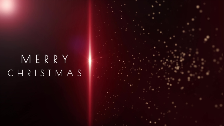 Merry Christmas message and particles animation in space environment | Shutterstock HD Video #1042259707