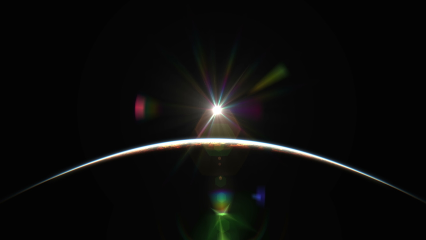 Sunrise from space abstract 4k | Shutterstock HD Video #1042274167