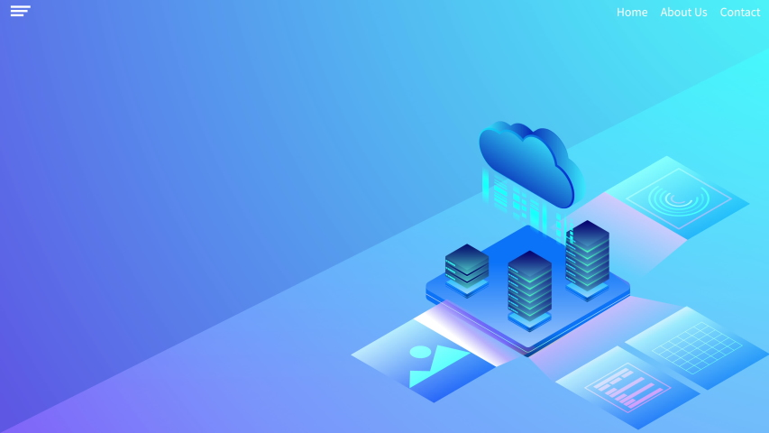 Cloud Computing technology, Server Network mainframe isometric concept.Web template design.video animation  background concept.  | Shutterstock HD Video #1042613857