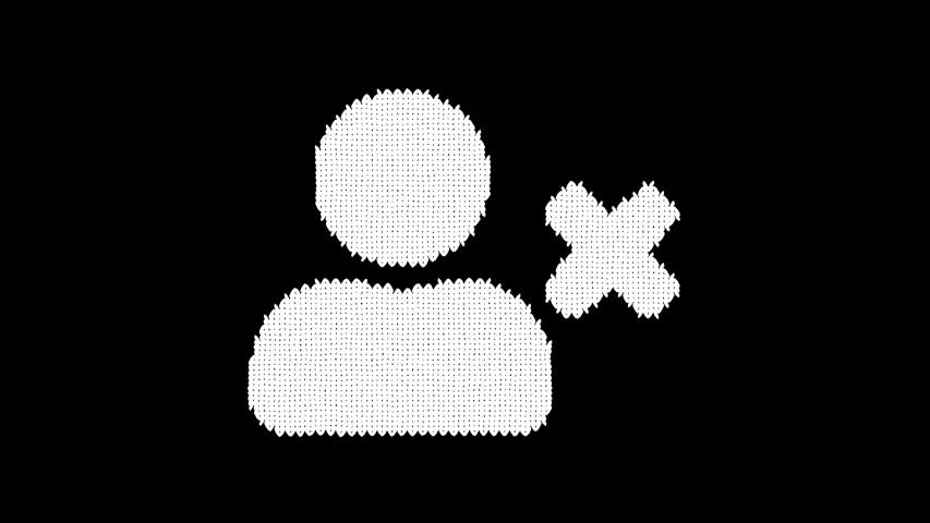Symbol user delete is knitted from a woolen thread. Knit like a sweater | Shutterstock HD Video #1042633597