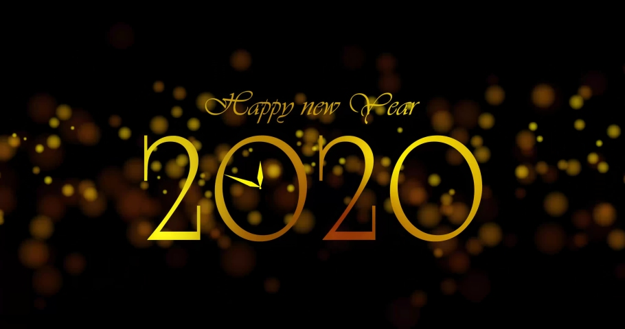Happy new year 2020 text/word/letter/stamp/sign/seal footage 4 video | Shutterstock HD Video #1042648837