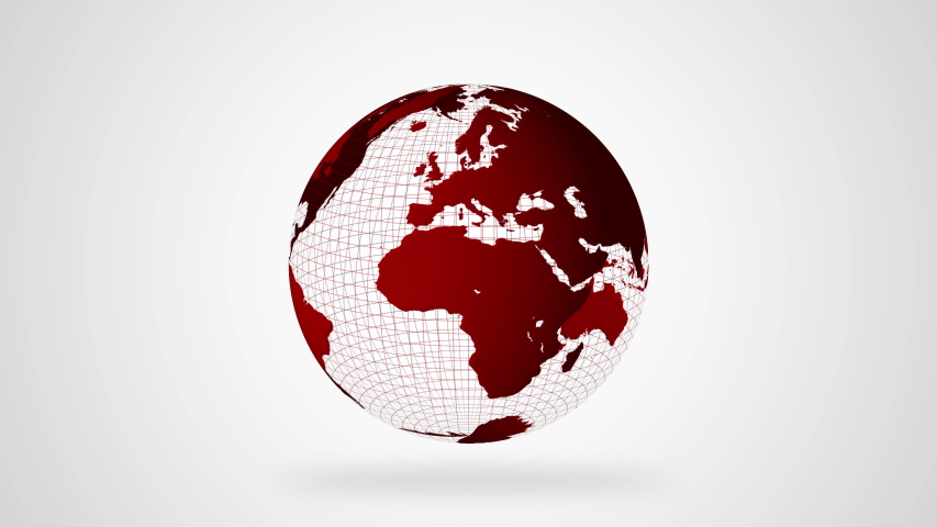 Breaking news- animation and text 3d- globe | Shutterstock HD Video #1042674067