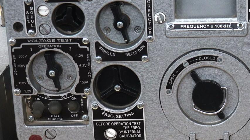 Military walkie-talkie. Means of communication.   Shutterstock HD Video #1042783777