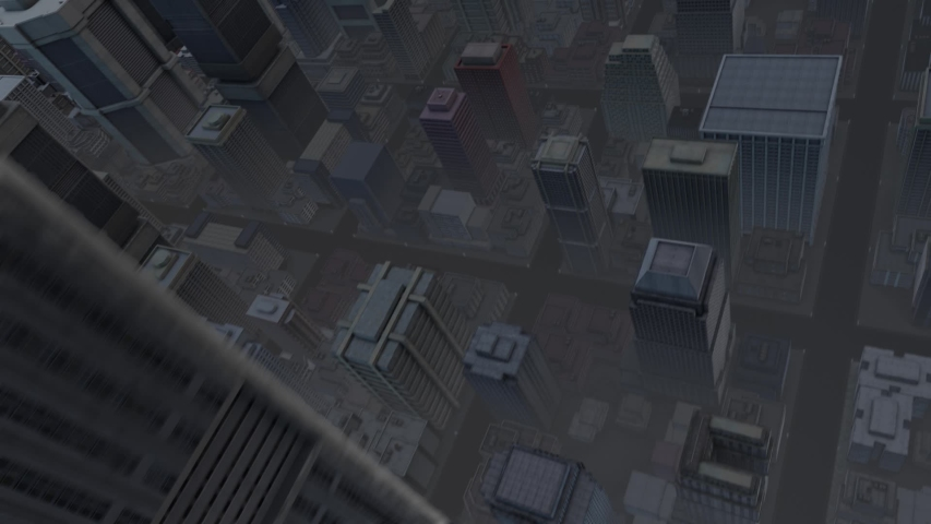 Sci Fi Urban Mega City - Looking Down. With and Without Drone Ships. | Shutterstock HD Video #1042786837