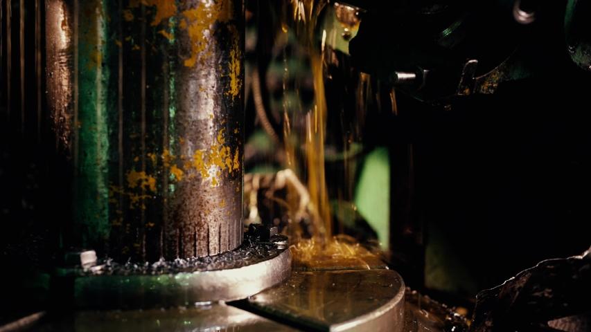 Metal working machinery close up video | Shutterstock HD Video #1042857577