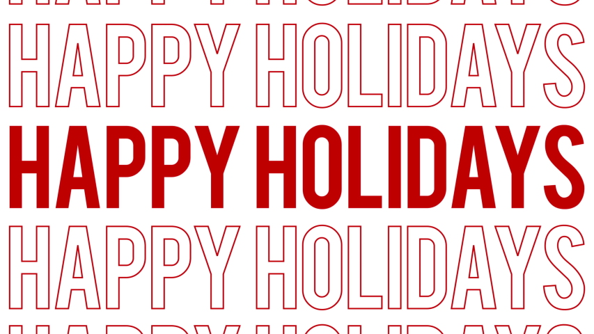 Happy Holidays all inclusive typography social media greeting. 4k great for corporate cards. Kinetic Typography | Shutterstock HD Video #1043207797