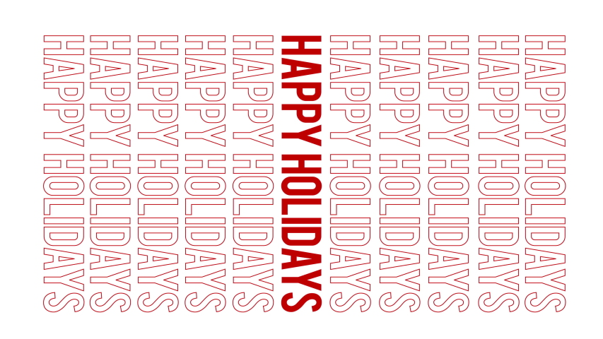Vertical all inclusive happy holidays pop trendy text. Great for social media or corporate season's greetings.  | Shutterstock HD Video #1043207887