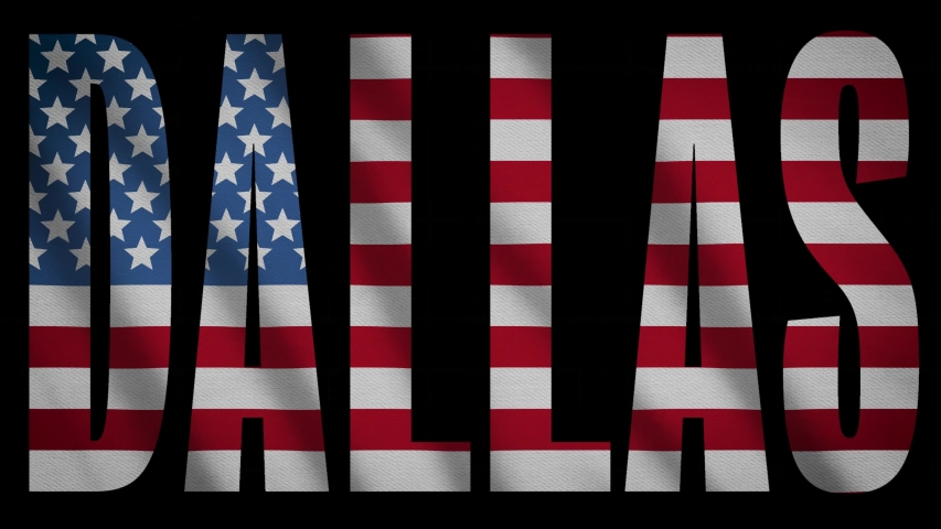 USA Flag With Dallas Mask   Shutterstock HD Video #1043564887