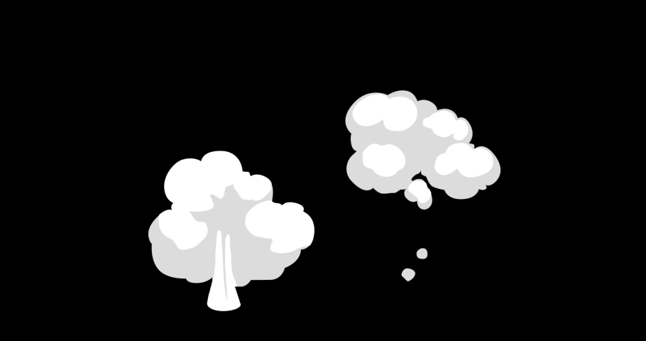 Smoke Explosion Boom Elements Cartoon Animation Hand Drawn. 2d Smoke Elements Smoke Motion Graphics 4K resolution with Alpha channel. Easy to use, Drop .mov files into your project. | Shutterstock HD Video #1044117427