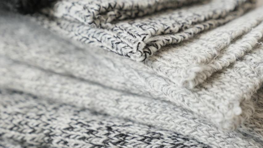 Shallow DOF of winter socks 4K panning video | Shutterstock HD Video #1044189697
