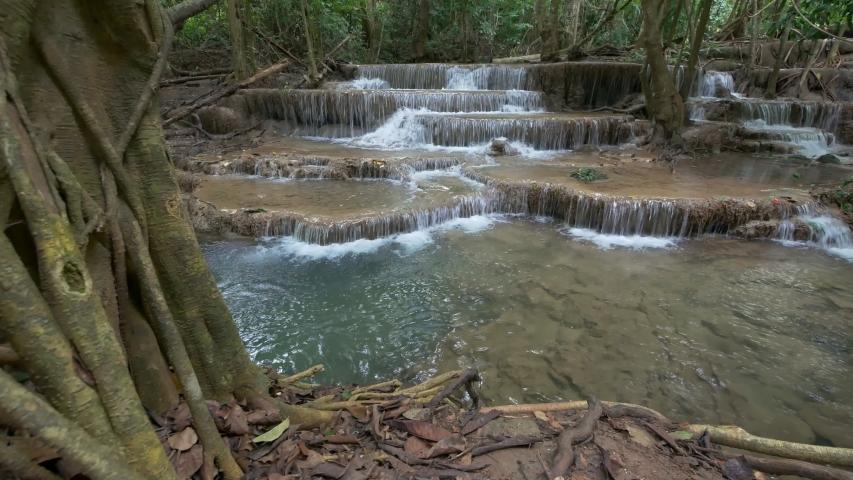 Deep forest Waterfall, Kanchanaburi, Thailand  | Shutterstock HD Video #1044597547